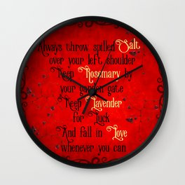 Practical Magic Spell Wall Clock