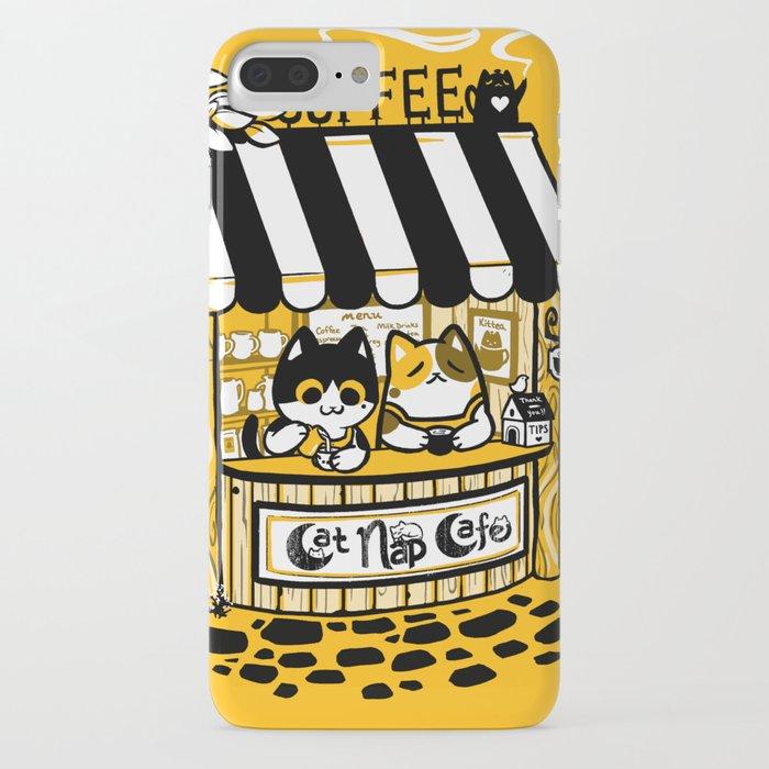 cat nap cafe iphone case