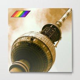 Berlin Pride Alexanderplatz LGBT Gay  Metal Print