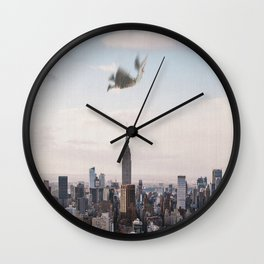 Falling-New York City Skyline Wall Clock