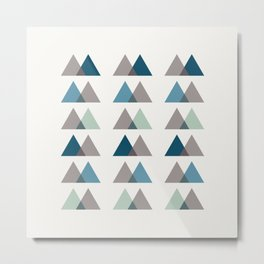 Color Theory in Blue and Ash Metal Print