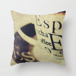 Espress-Yourself! Throw Pillow