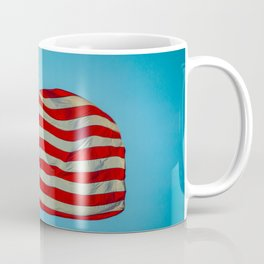 Old Glory Glowing in a Blue Sky American Flag Coffee Mug
