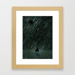 Alone in Tar Tear Lake Framed Art Print