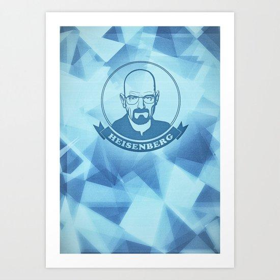 Walter White - Heisenberg - Blue Meth Edition Art Print