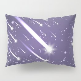 Flying meteors. Ultra violet. Pillow Sham