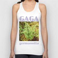 lady gaga Tank Tops featuring Gaga germanotta by Duke Herbarium