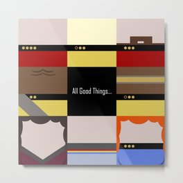 All Good Things - square Minimalist Star Trek TNG The Next Generation 1701 D  startrek  Trektangles Metal Print