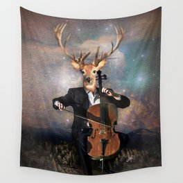The Musican - Vinolocello Wall Tapestry