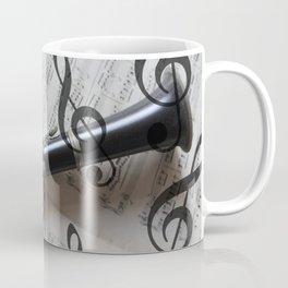clef music notes white black clarinet Coffee Mug