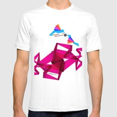Paper Birds Mens Fitted Tee White SMALL