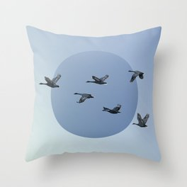 Wild Geese Fly North Throw Pillow