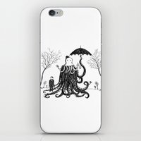 lovecraft iPhone & iPod Skins featuring Young Master Lovecraft Finds A Friend by Jon Turner