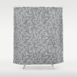 Kip and Flo in Grey on Grey Shower Curtain
