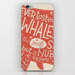 'How the Whale Got His Throat' iPhone Skin
