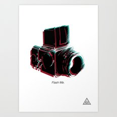 Flash Me Art Print