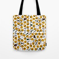 halloween Tote Bags featuring halloween by mark ashkenazi