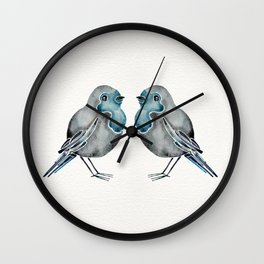 Little Blue Birds Wall Clock