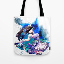 Anime girls series - Royal Blue Explosion Tote Bag