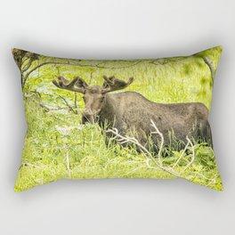Bull Moose in Kincaid Park, No. 2 Rectangular Pillow