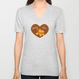 Derby Love Vintage Skate Orange Unisex V-Neck
