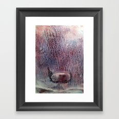 airstream in purple rain Framed Art Print