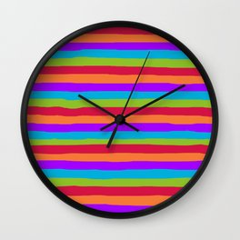 lumpy or bumpy lines abstract and summer colorful - QAB273 Wall Clock