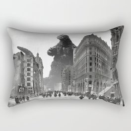 Old Time Godzilla in San Francisco Rectangular Pillow