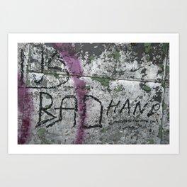 Bad Hand Art Print