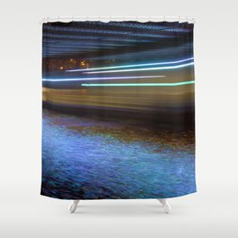 Into the Berlin Blue Night Shower Curtain