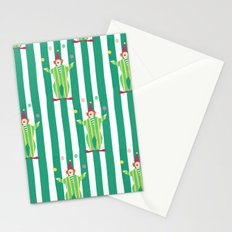 Clown (green) Stationery Cards