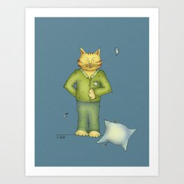 You are the cat's pajamas - blue Art Print
