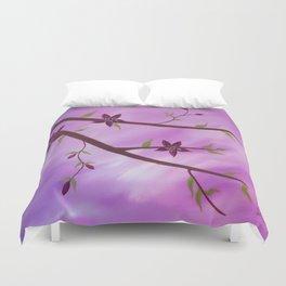 flower painting Duvet Cover