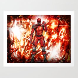 Fire Doesn't Walk With Me Because The Legal Team Won't Let It Art Print