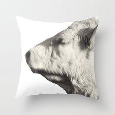 Bovine Profile Throw Pillow