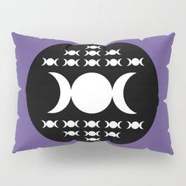 Triple Moon Goddess - White, Black and Ultra Violet Pillow Sham