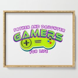 Father and Daughter Gamers For Life Serving Tray