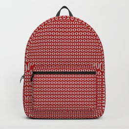 Less Than Zero Equals Red Backpack