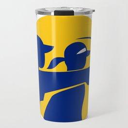 Caddie and Golfer Icon Travel Mug