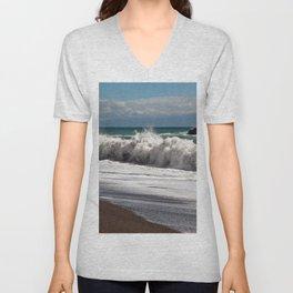 Magic Waves on the Isle of Sicily Unisex V-Neck