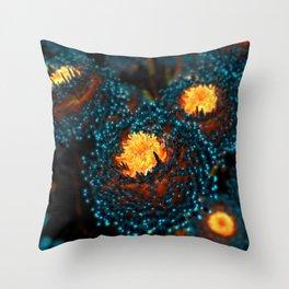 Electric Dahlia Throw Pillow