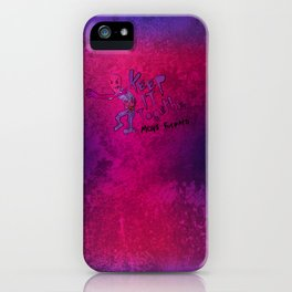 Keep It Together (Zombie Motivational) iPhone Case