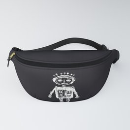 Little robot black-white illustration Fanny Pack