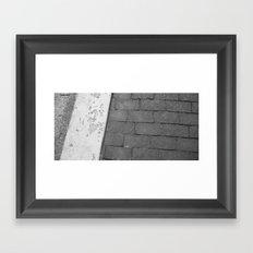 Grey Sidewalk Framed Art Print