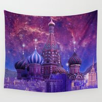 moscow Wall Tapestries featuring Hipsterland - Moscow by Alejo Malia