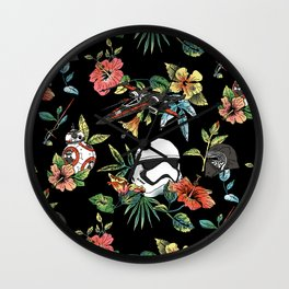 The Floral Awakens Wall Clock