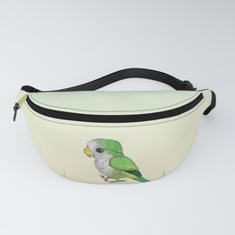 Very cute green parrot Fanny Pack
