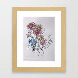 Colour Daisy Framed Art Print