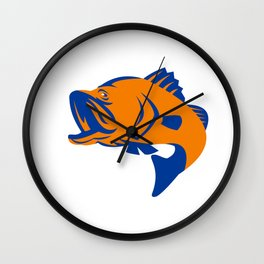 Barramundi Fish Jumping Retro Wall Clock