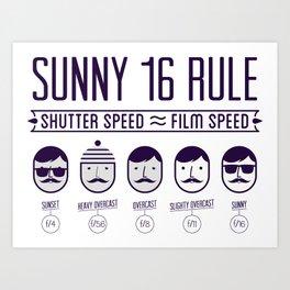 Sunny 16 - 2012 edition Art Print